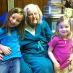 Grandma Sanders, Em, and Ava - March 2011