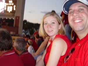 First Razorback Game after moving to NW Arkansas in 2002!